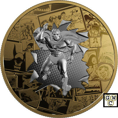 2017 $50 .9999Fine Silver Coin-DC Comics(TM)Originals; All Star Comics(18271)NT