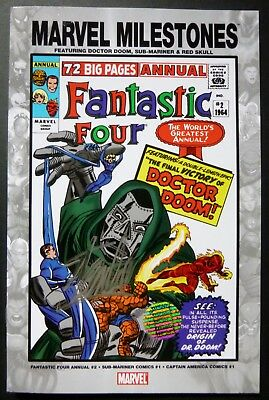 Marvel Milestone Fantasic Four Doctor Doom Comic Signed By Stan Lee Auth Sticker