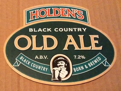 Beer pump clip badge front HOLDEN'S brewery OLD ALE cask ale