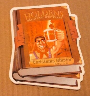 Beer pump clip badge front HOLDEN'S brewery CHRISTMAS BLASTER cask ale