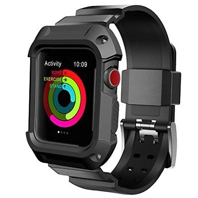 UMTELE Compatible with Apple Watch Band 42mm, UMTELE Rugged Protective Case with