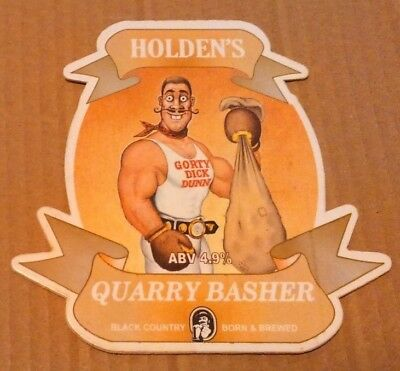Beer pump clip badge front HOLDEN'S brewery QUARRY BASHER ale Gorty Dick Dunn