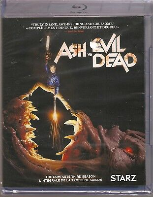 ASH VS EVIL DEAD THE COMPLETE THIRD SEASON BLURAY SET with Bruce Campbell
