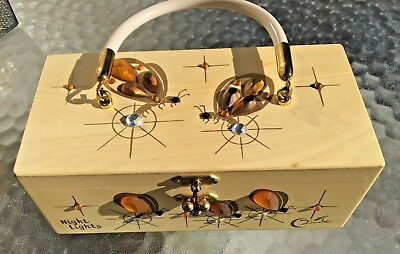 "Rare Vintage Enid Collins Box Purse - "" Night Lights""  which has Lightning Bugs"
