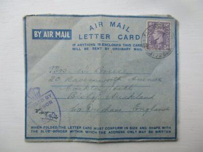 WW2 Handwritten Love Letter Husband To Wife RAVC 1944 Air Mail Lettercard