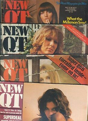 Job Lot of 4 Vintage Retro 1970s New QT mags full of memories & Platform Shoes!