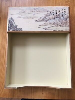 wooden paper tray for odds and ends