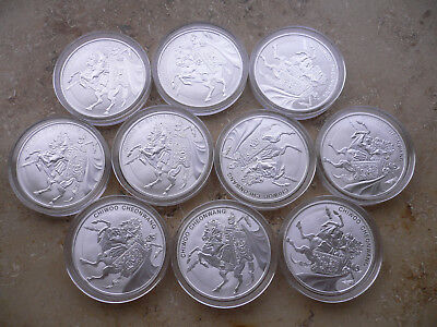 10x 2017 South Korea 1 Oz Silber Chiwoo Cheonwang