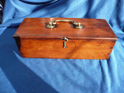 FINE ANTIQUE 18th CENTURY YEW DOCUMENT  APOTHECARY  SCIENTIFIC  INSTRUMENT BOX