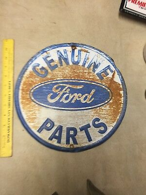 "Vintage Style 12"" Circle Genuine Ford Parts Metal Sign"