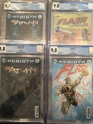 Batman #s 21 & 22 - Flash #s 21 & 22 Rebirth CGC 9.8