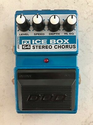 DOD FX64 Ice Box Stereo Chorus Guitar Bass Effect Pedal - Mint - Used