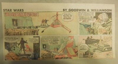 Star Wars Sunday Page by Al Williamson from 3/29/1981 Third Page Size!
