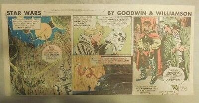 Star Wars Sunday Page by Al Williamson from 8/30/1981 Third Page Size!