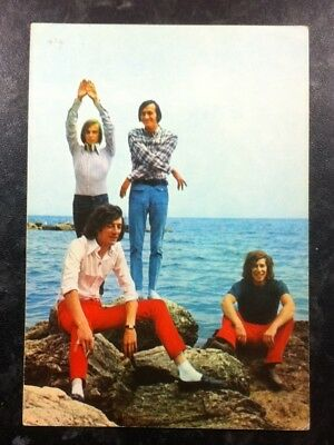 The ROKES Anglo / Italian 1960's POP GROUP  POSTCARD  excellent  condition