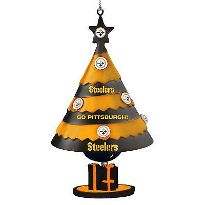 Pittsburgh Steelers Football Team Logo NFL Holiday Christmas Tree Bell Ornament
