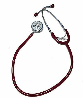 New Dual Head Stethoscope Color: Burgundy -  US seller FAST Shipping