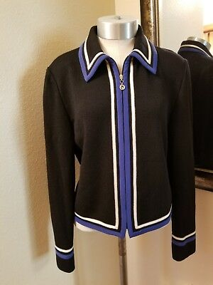 St John Collection By Marie Gray Knit Jacket Size 8