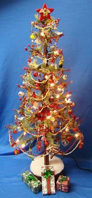 """Cat Themed OOAK Christmas Tree - Lights, Cat Ornaments & Others 24.5"""""""
