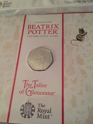 Beatrix Potter The Tailor Of Gloucester  2018 — 50P Fifty Pence Coin Pack Bu New