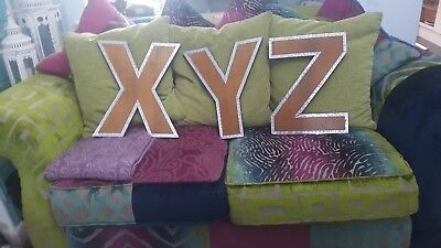 Wooden XYZ Wall Hanging Letters.  16 inch tall.