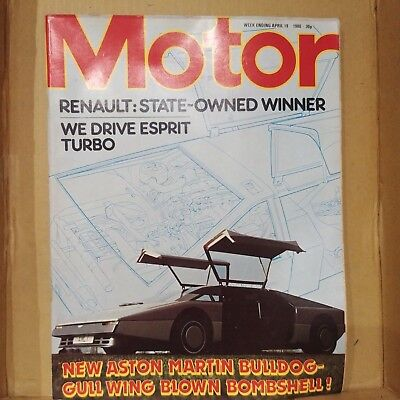MOTOR MAGAZINE Apr 1980 New Aston MArtin Bulldog