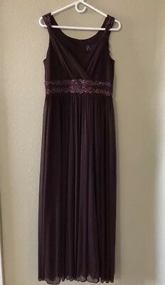 BEAUTIFUL ALEX EVENINGS FORMAL MAROON DRESS, Size 14.