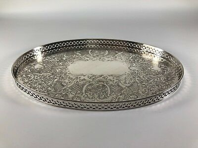 Barker Ellis Silver Plate Tray with personal message on rear