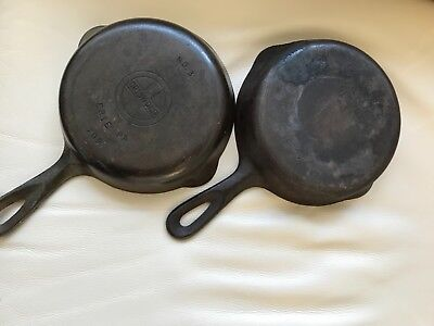Lot of Cast Iron Pans, Griswold and Wagner Both #3