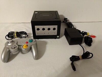 Nintendo GameCube Console 1 Controller Complete System DOL-001 Black Tested