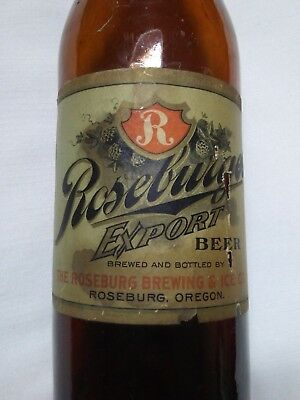 Roseburg Brewing and Ice Co beer bottle