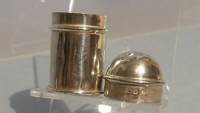Victorian 1899 Miniature silver pepper shaker pot
