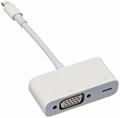 Genuine Apple Lightning To Vga Monitor Tv Adapter Md825Zm/a Ipad Iphone