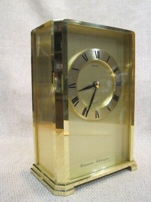 "8"" Vintage Seiko Solid Brass Chime Clock - made in Japan"