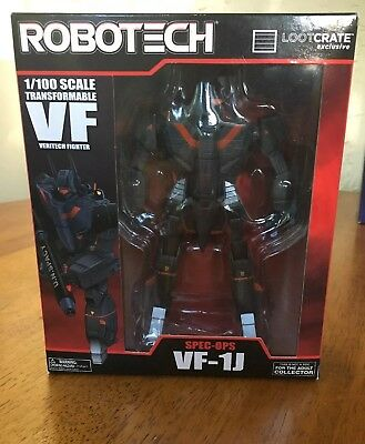 Robotech Spec-OPS Veritech Fighter VF1J Loot Crate Exclusive 1/100 Scale NEW NIB
