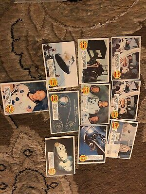 1969 TOPPS Man On The Moon - Lot of 10 cards