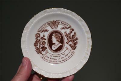 Royal Albert Queen Queen Mother 80Th Birthday Trinket Dish / Small Plate - Vgc