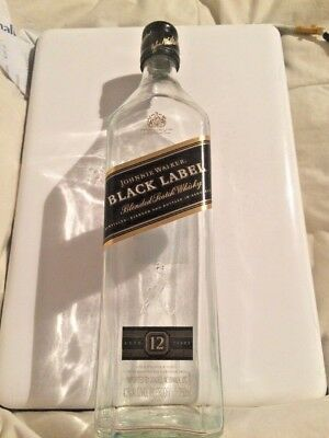 Empty Johnnie Walker Black Label Blended Scotch Whisky Bottle Crafts Collectible
