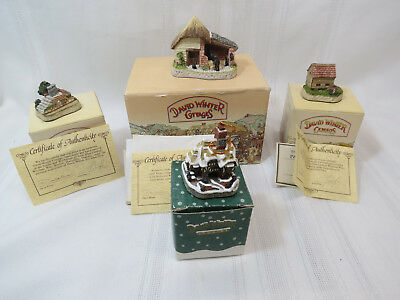 David Winters Cottages, Cameo's, and Ornament Set of 4 New In Box