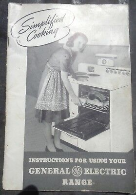 Vintage General Electric Range manual