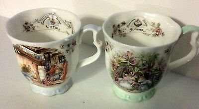 Royal Doulton Brambly Hedge Summer / Winter Cups (1 Each) 1983