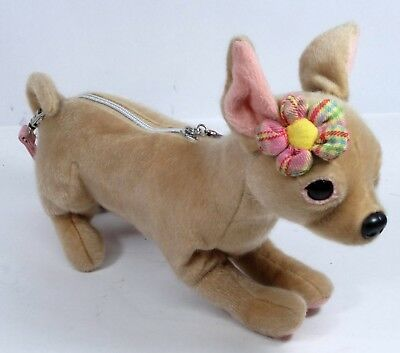 Fuzzy Nation Chihuahua Teacup Size Puppy Purse Novelty Bag