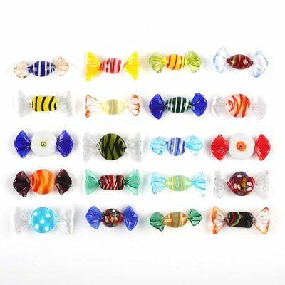 20pcs Vintage Murano Glass Sweets Candy Colorful Decorations Wedding Xmas Party