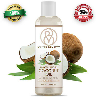 Fractionated Coconut Oil 100% Natural For Aromatherapy, Skin, Hair & Massages