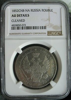 1852 CNB NA Russia 1 Rouble NGC AU-Details