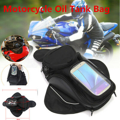 Universal Magnetic Motorcycle Bike Oil Fuel Tank Bag Waterproof Pocket Saddlebag