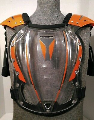 Moose Racing USA Adult Lg Motocross Chest Protector Orange MINT CONDITION