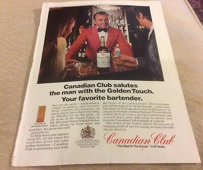 CANADIAN CLUB Whisky 1973 Vintage Print Ad