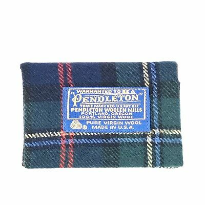 Vintage Pendleton Address Phone Number Book Cover Wool Plaid Made In the USA