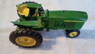 Vintage John Deere Toy Farm Tractor and Wagon